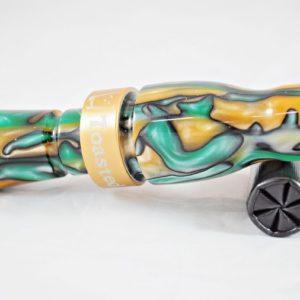 Acrylic Mallard Call - Gecko w/ Gold Band