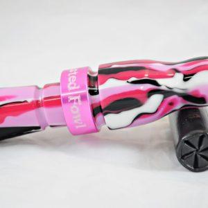Acrylic Mallard Call - Black & Berry Camo w/ Pink Band